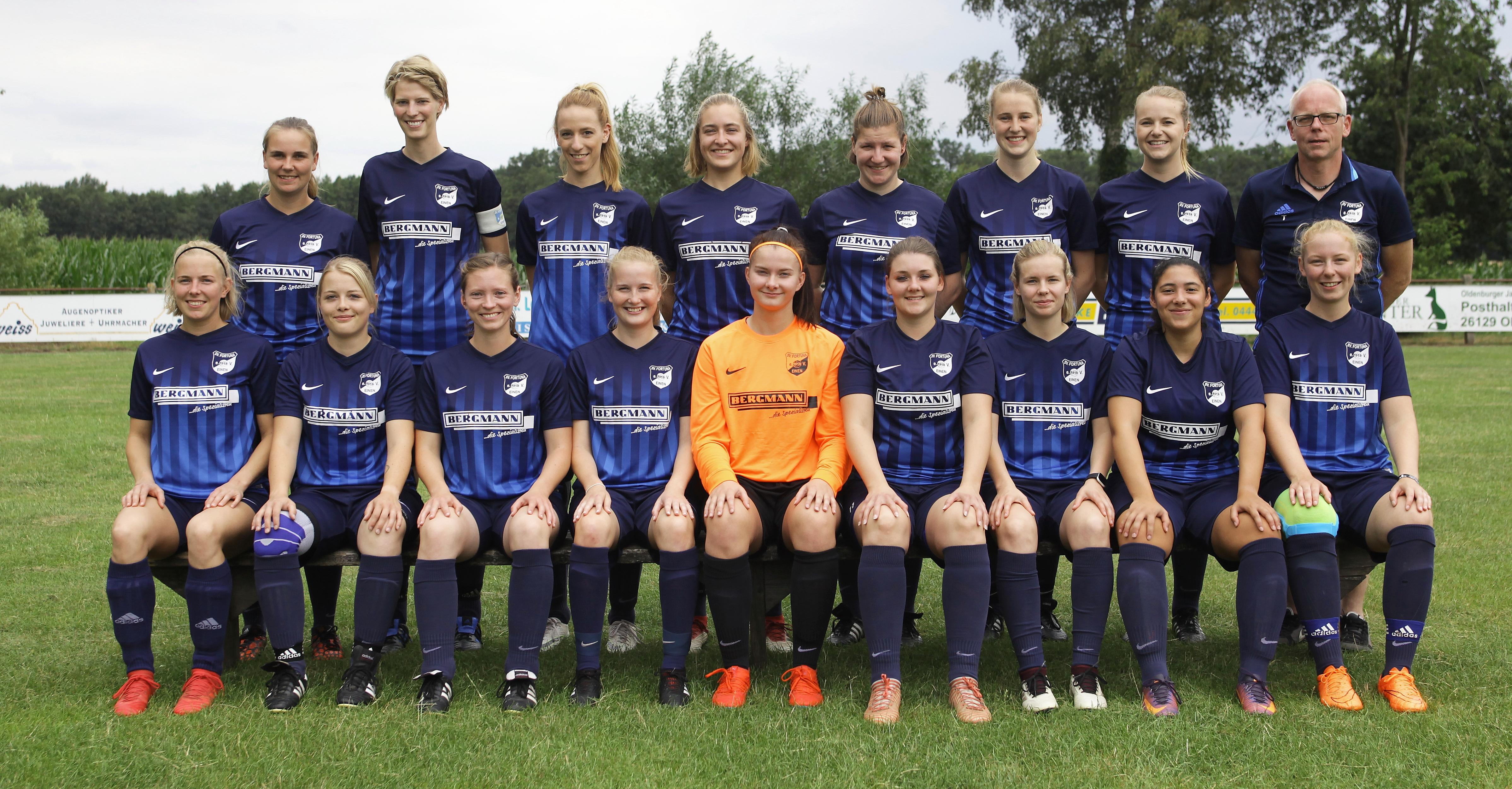 1.Damen Manschaftsfoto Saison 2019/20 Bezirksliga